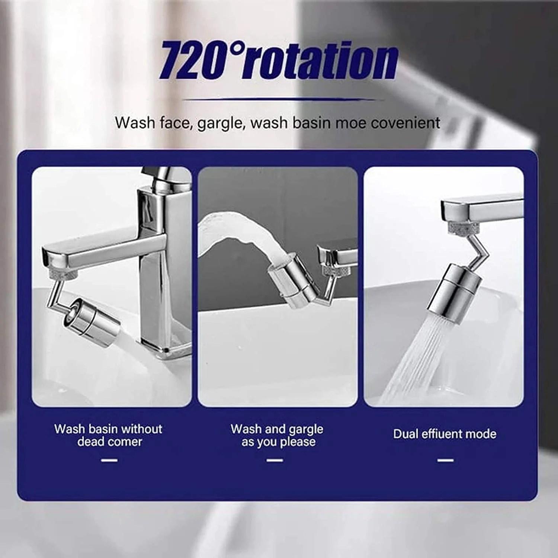 rotate faucet aerator big angle large