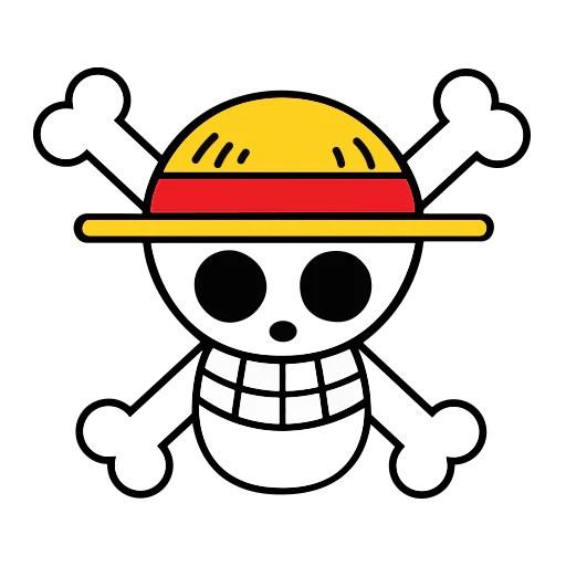 Luffy wallpaper, one piece, straw hat, download hd wallpaper for desktop, or mobile in best quality (4k). One Piece Luffy Straw Hat Pirate Skull Sticker Popahead