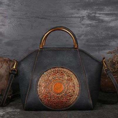 Load image into Gallery viewer, Beherchic Gorgeous Mandala Design Rich Genuine Leather Hand and Shoulder Bag