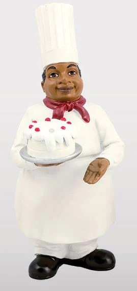 Chef With Cake Kitchen Figurine Its A Black