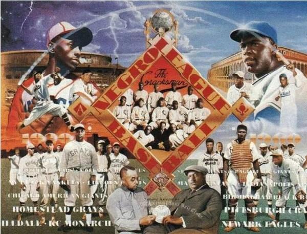 Negro League Baseball 22x28 Print Edward Clay Wright
