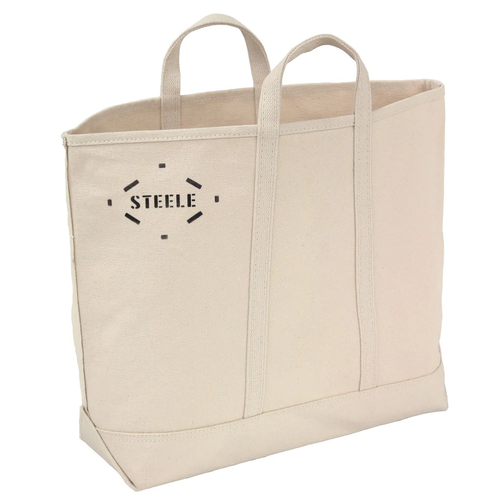 natural canvas tote bag
