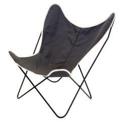 Canvas Sling Chair Upholstered Dining Steele Butterfly Briquette Basket Corp 27 L X 32 25 W 34 H