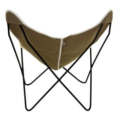 Target Sling Chair Tan Folding Chaise Lounge Plastic Steele Butterfly British Canvas