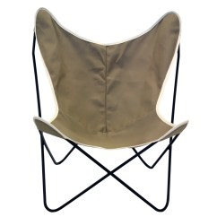 Target Sling Chair Tan Office Gas Strut Steele Butterfly British Canvas
