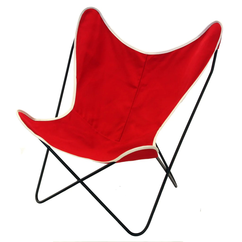 canvas sling chair wing slipcover ikea steele butterfly red basket corp