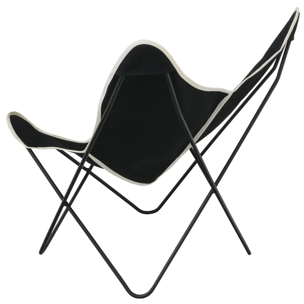 Canvas Sling Chair Steele Butterfly Sling Chair Black Steele Canvas