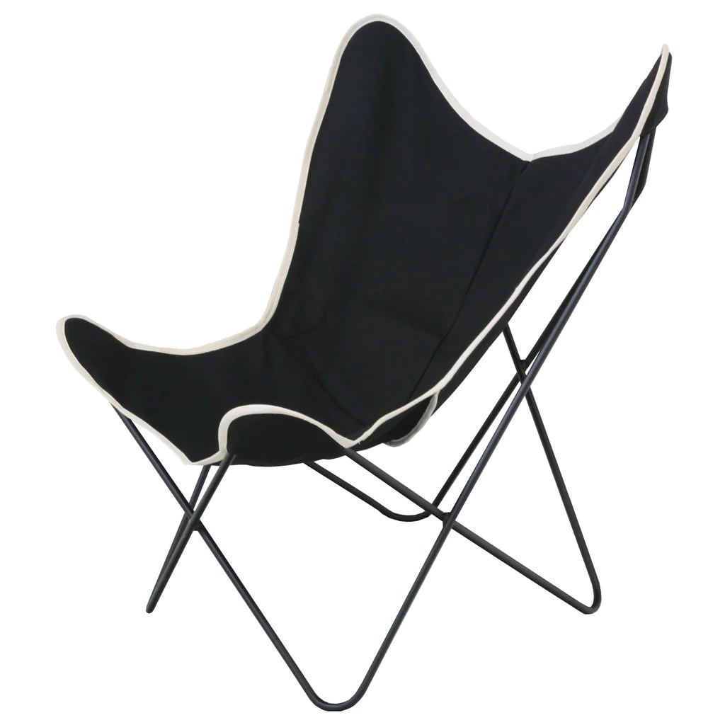 canvas sling chair eames lounge dimensions steele butterfly black basket corp 27 l x 32 25 w 34 h