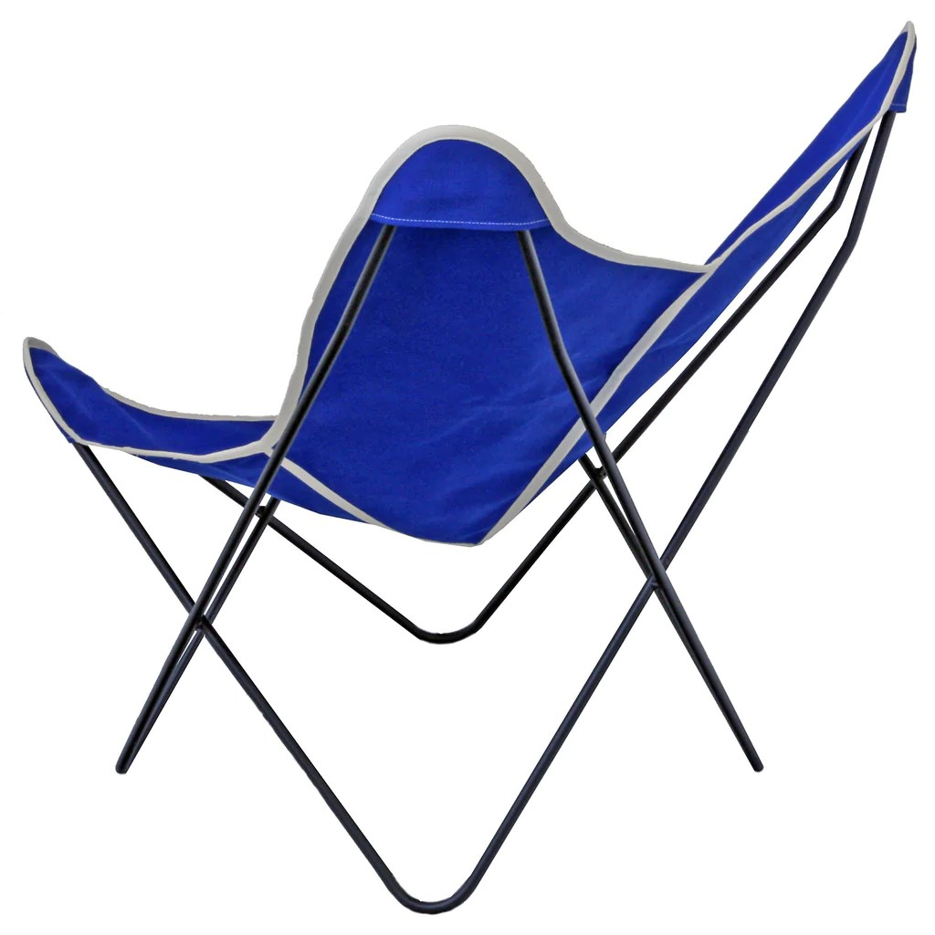 canvas sling chair foldable chairs target steele butterfly cobalt