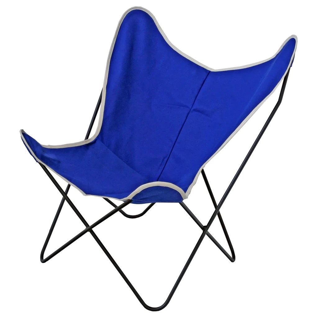 Canvas Sling Chair Steele Butterfly Sling Chair Cobalt Steele Canvas