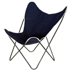 Canvas Sling Chair Pedicure Stool Uk Steele Butterfly Dark Navy Basket Corp 27 L X 32 25 W 34 H