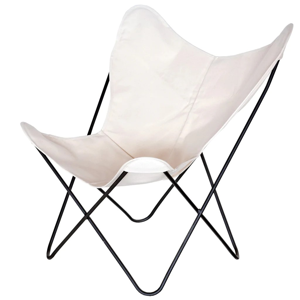 Canvas Sling Chair Steele Butterfly Sling Chair Natural Steele Canvas