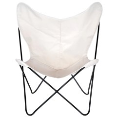 Canvas Sling Chair Diy Rail Steele Butterfly Natural