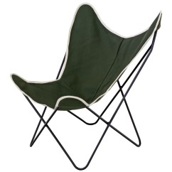 Canvas Sling Chair Modern Reclining Steele Butterfly Olive