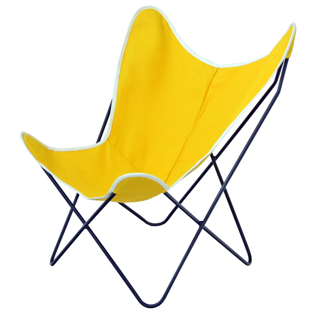 Canvas Sling Chair Steele Butterfly Sling Chair Yellow Steele Canvas