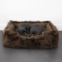 Animals Matter Faux Fur Shag Lounger Luxury Dog Bed