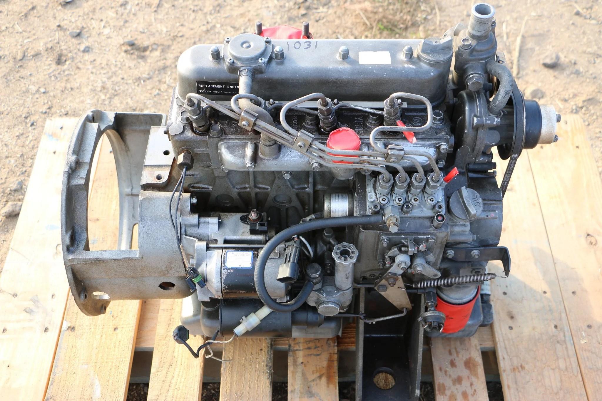 small resolution of kubota v1505 diesel engine motor for bobcat pump generator etc 1031
