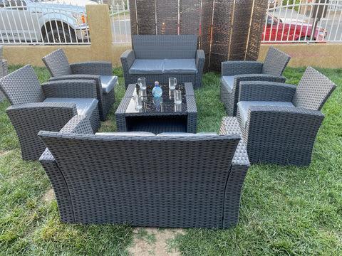patio furniture set dark grey