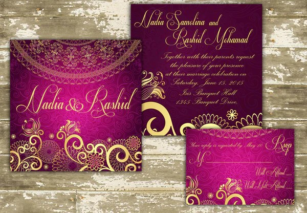 Bridal Shower Invitations Indian