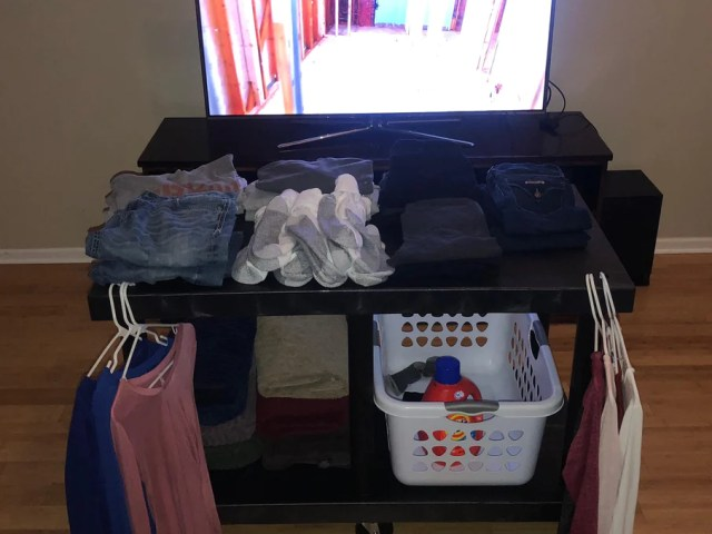 Image result for watching tv laundry