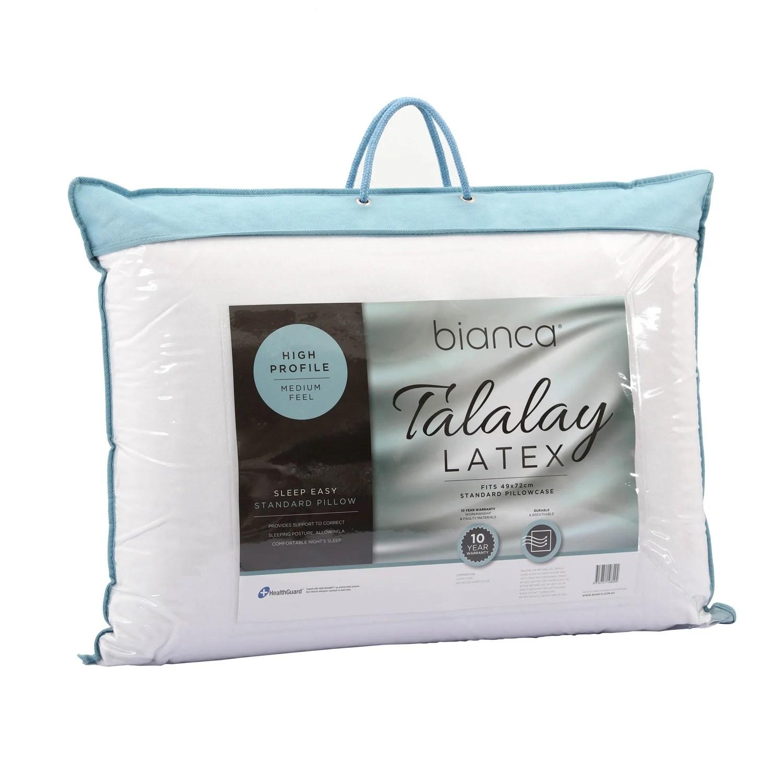 sleep easy high profile medium feel talalay latex pillow