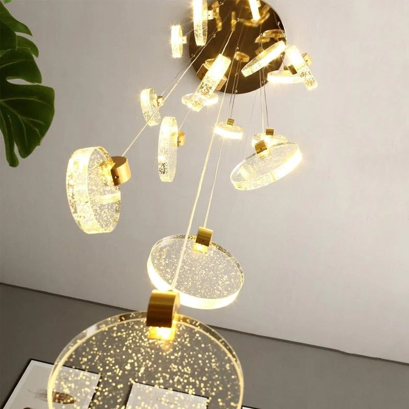 modern crystal foyer chandeliers hanging long chandelier for staircase