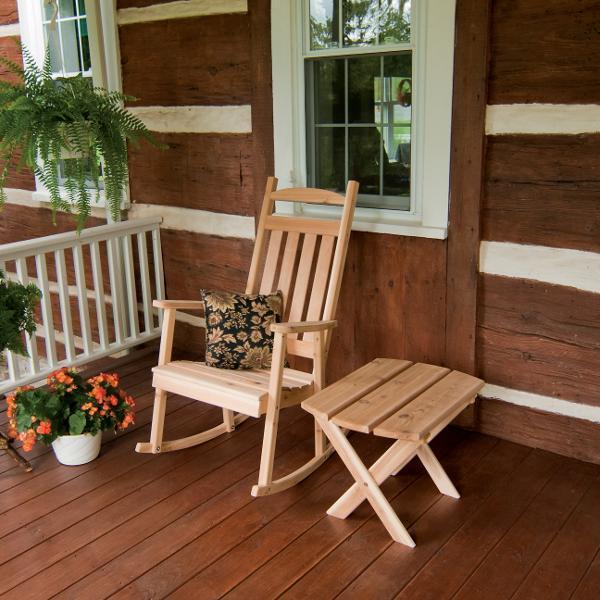 western red cedar classic porch rocker