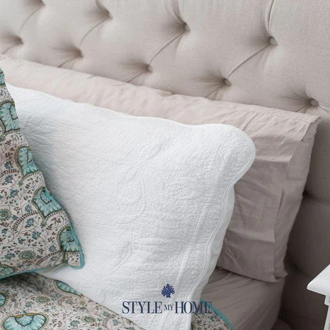 LIAM Upholstered Linen Bed Frame Style My Home Sydney