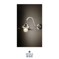 Victorian Wall Lamp in Antique Silver