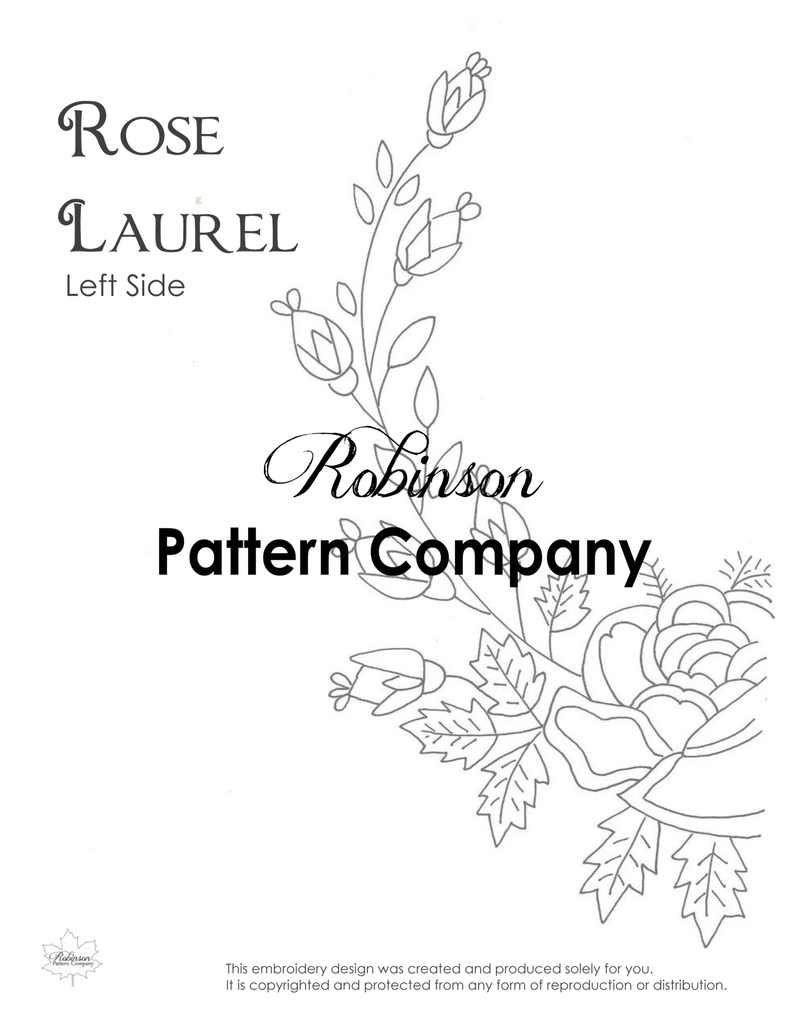 rose laurel hand embroidery