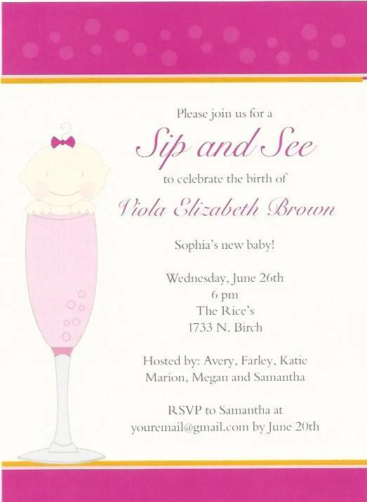 Baby sip and see invitations | etsy. Sip And See Polka Dot Baby Shower Invitation Rockpaperscissors Needham