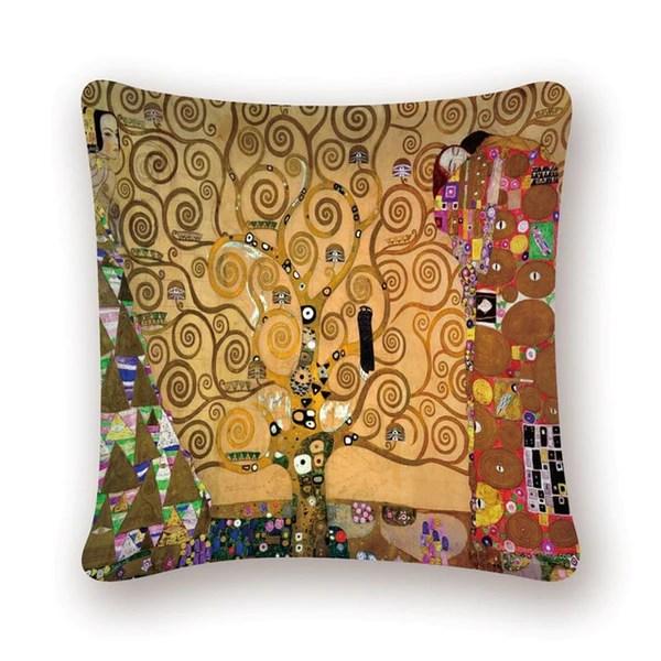 gustav klimt oil painting cushion cover