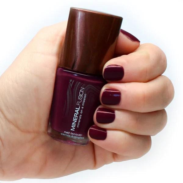 garnet vegan nail polish mineral