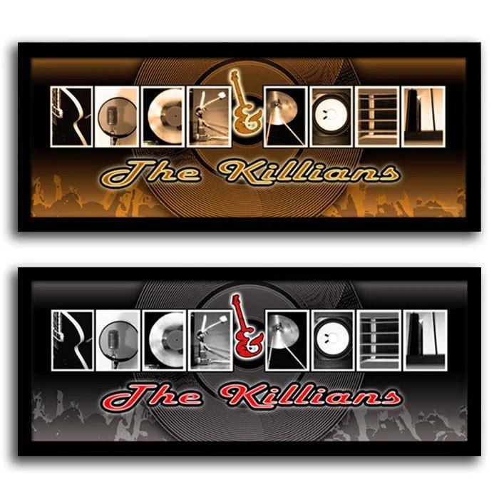rock roll letter art