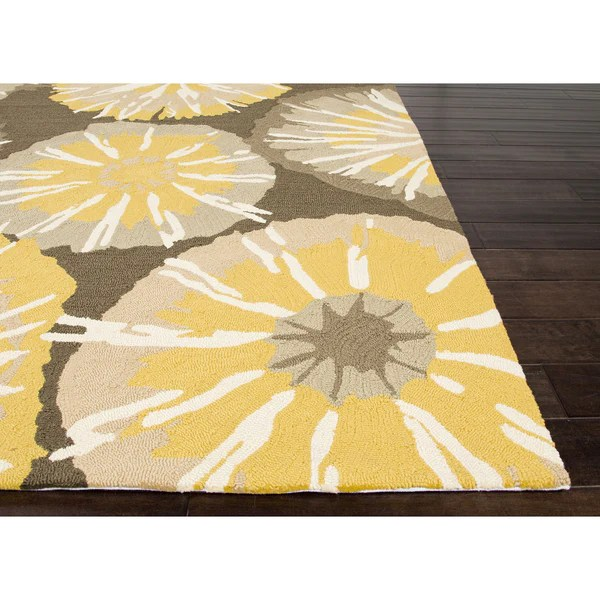 Jaipur Rugs IndoorOutdoor Abstract Pattern YellowGray