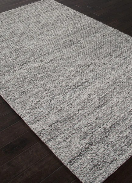 Jaipur Rugs Textured Stripe Pattern Gray Wool Area Rug SCR07 Rectangl  RugMethod