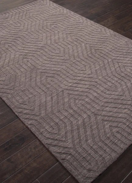 Jaipur Rugs Solid Geometric Pattern Gray Wool Area Rug URB05 Rectangl  RugMethod