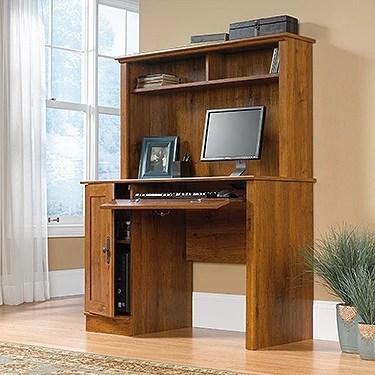 43 Quot Contemporary Desk With Hutch In Abbey Oak Finish