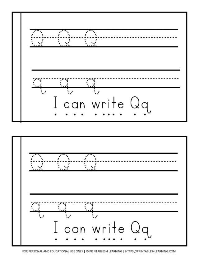 Letter Q Emergent Reader Coloring Book – Printables 30 Learning
