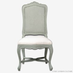 Cane Back Dining Chair Rattan Wingback Hyde French Upholstered Seat  The