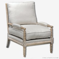 Spindle Arm Chair White Slipcover Kensington Bobbin Armchair Spool Spindles  Www