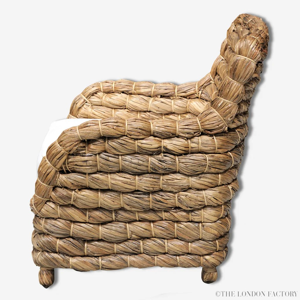 seagrass arm chair rocking camp wicker banana leaf occasional  the