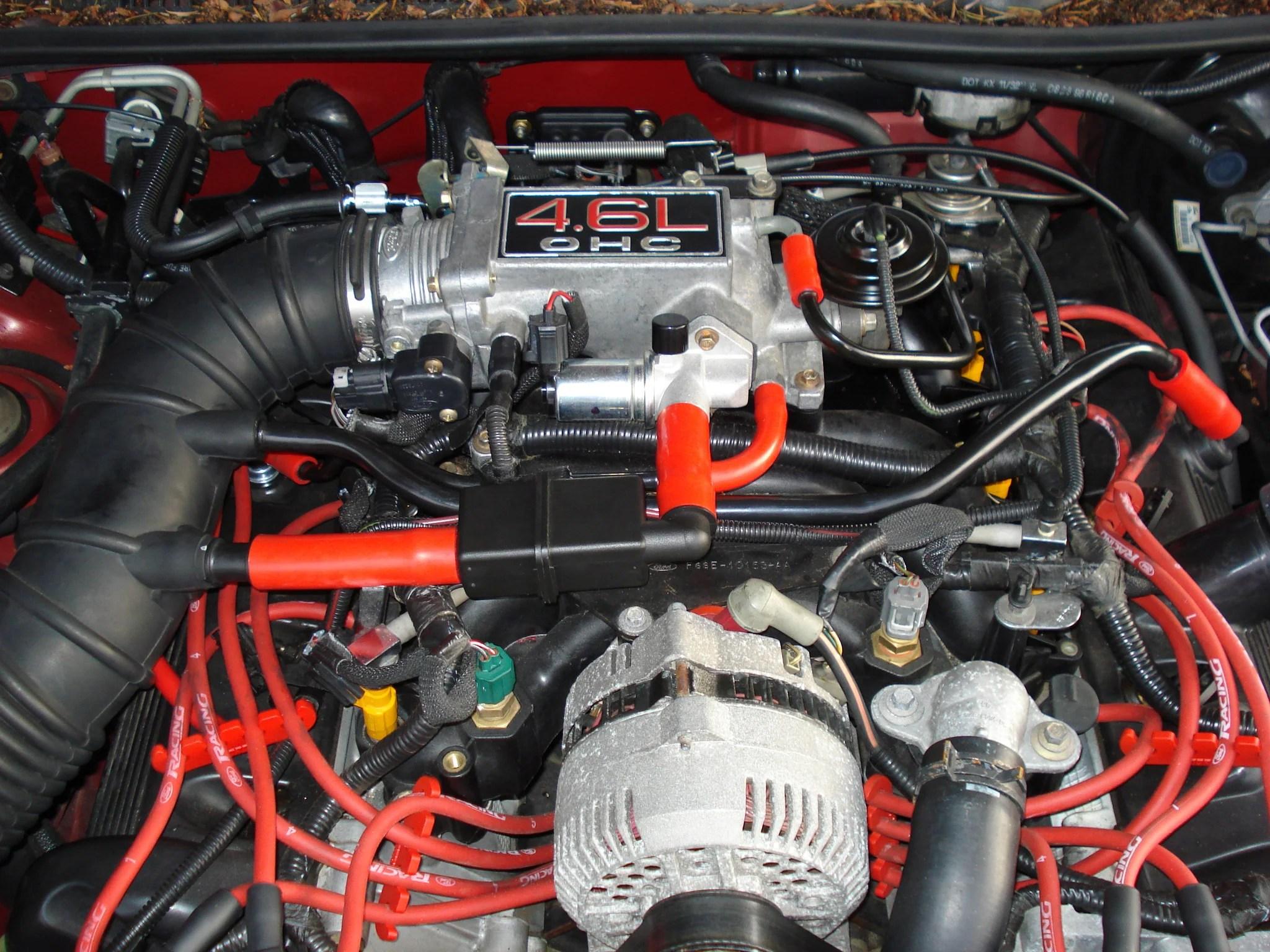 hpsi silicone vacuum hose kit ford thunderbird v8 4 6 liter 1994 1997  [ 2048 x 1536 Pixel ]