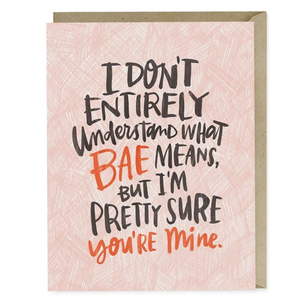 what bae means card
