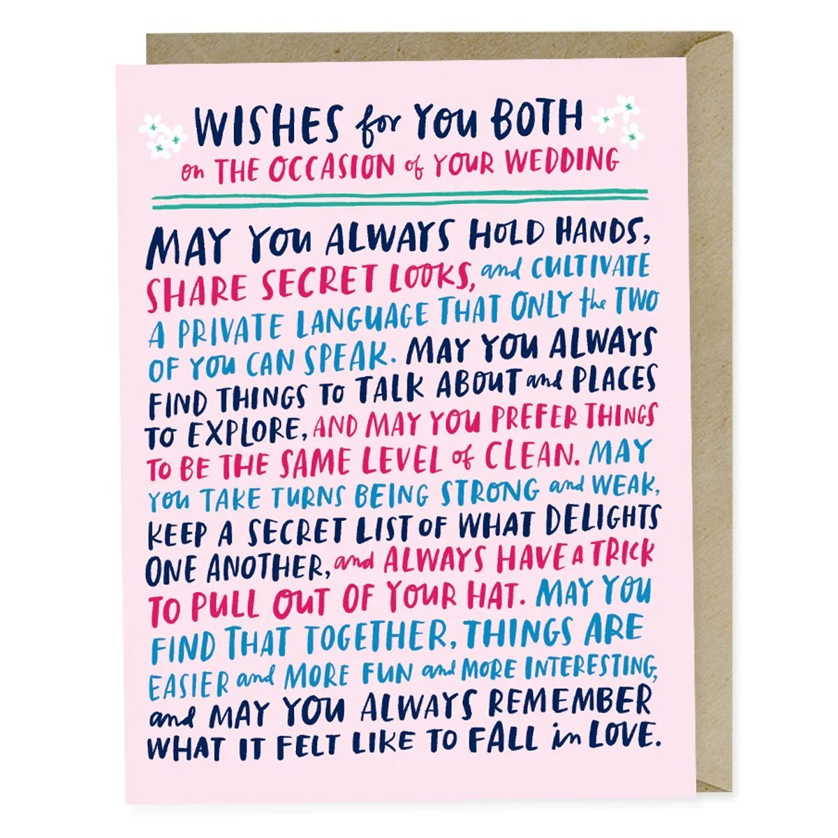wishes for you both