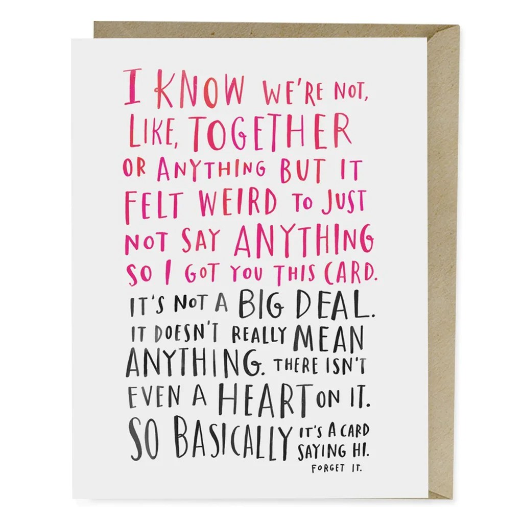 Awkward Dating Card Emily McDowell Amp Friends