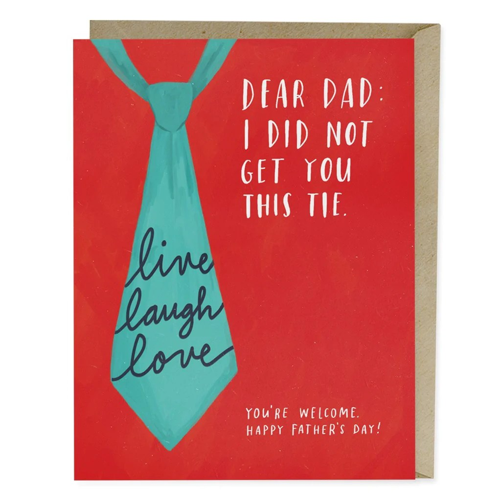 Live Laugh Love Tie Father S Day Card Emily Mcdowell