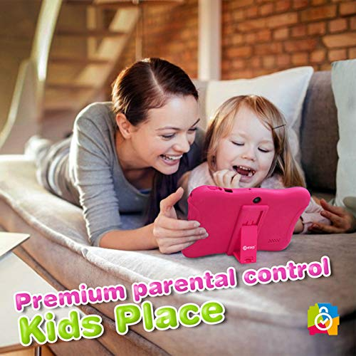 7 kids tablet android pink full