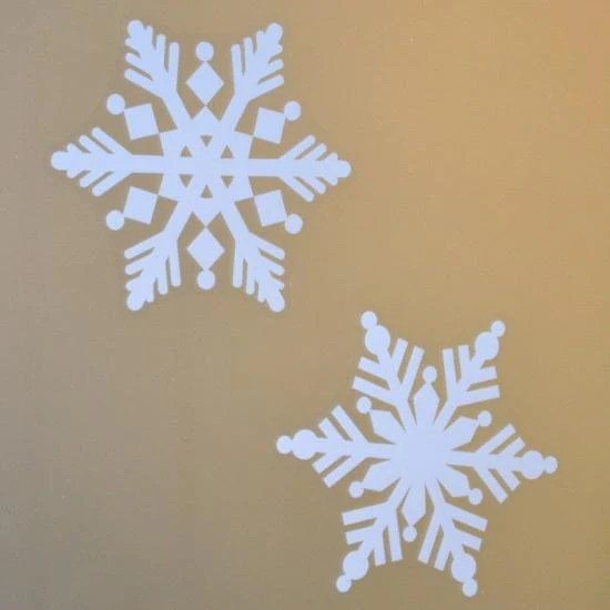 4 Pack Of Large 8 Snowflake Window Decal Clings Window