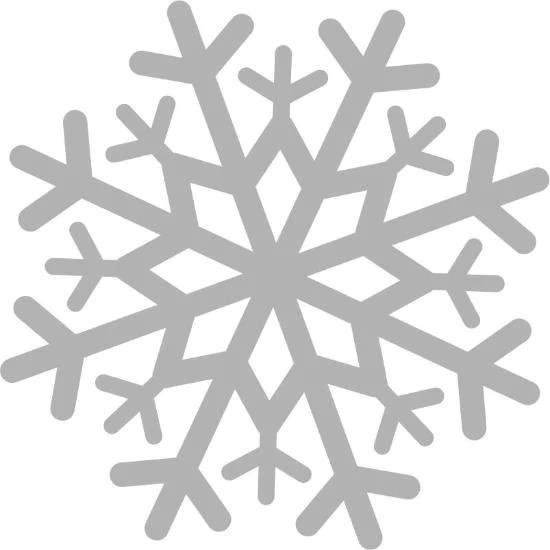 48 snowflake decal cling